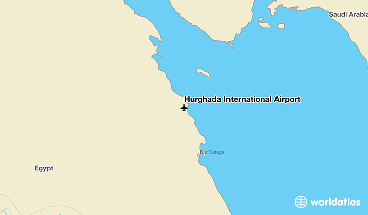 Hurghada International Airport location on a map