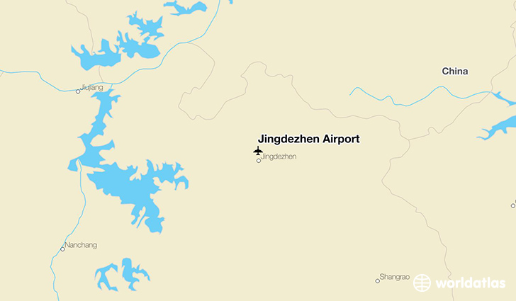 Jingdezhen Airport location on a map