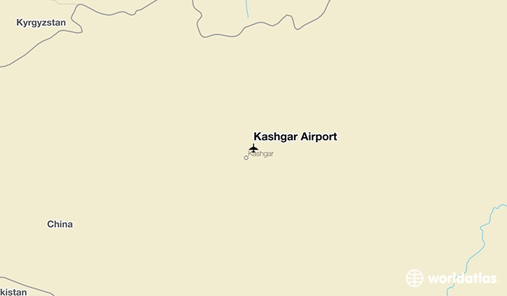 Kashgar Airport location on a map