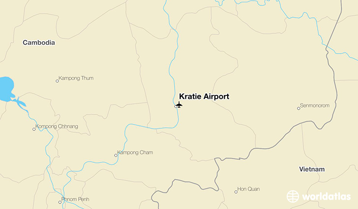 Kratie Airport location on a map