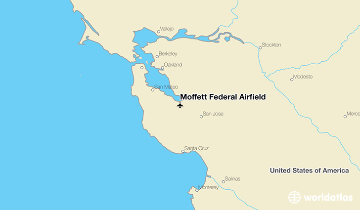 Moffett Federal Airfield location on a map