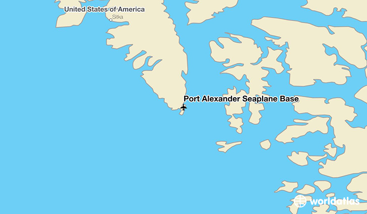 Port Alexander Seaplane Base location on a map