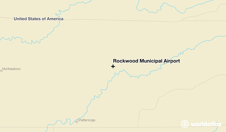 Rockwood Municipal Airport location on a map
