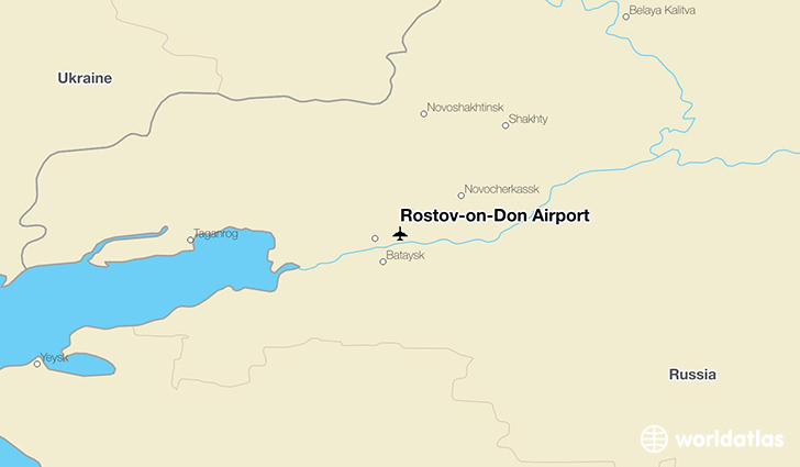 Rostov-on-Don Airport location on a map