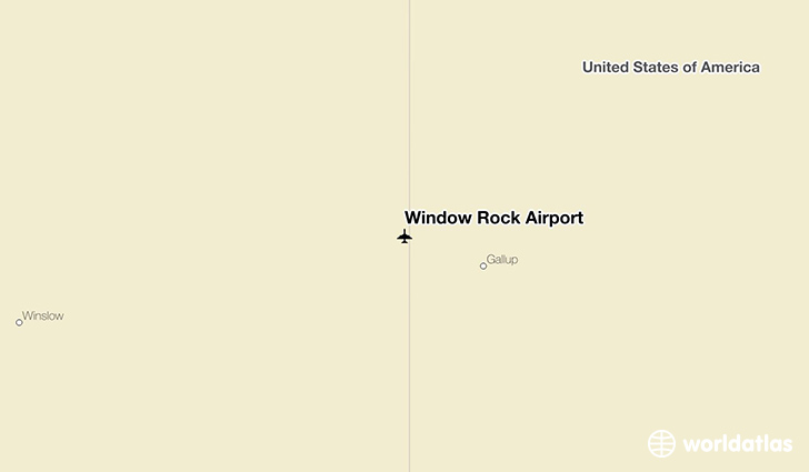 Window Rock Airport location on a map