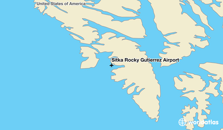 Sitka Rocky Gutierrez Airport location on a map
