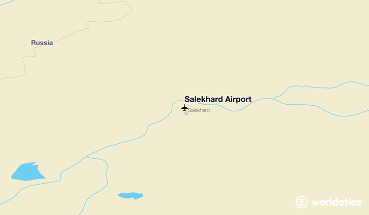 Salekhard Airport location on a map