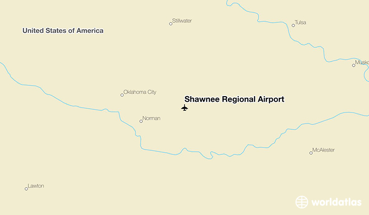 Shawnee Regional Airport location on a map