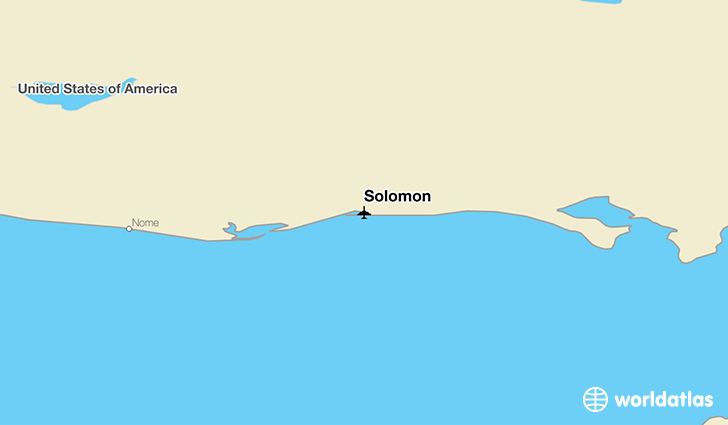 Solomon location on a map