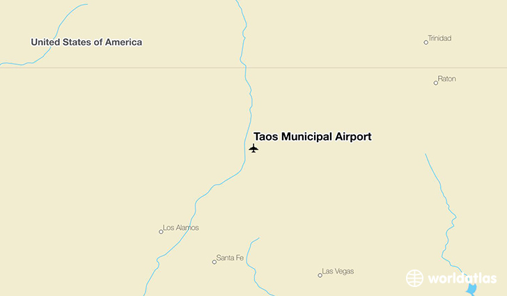 Taos Municipal Airport location on a map