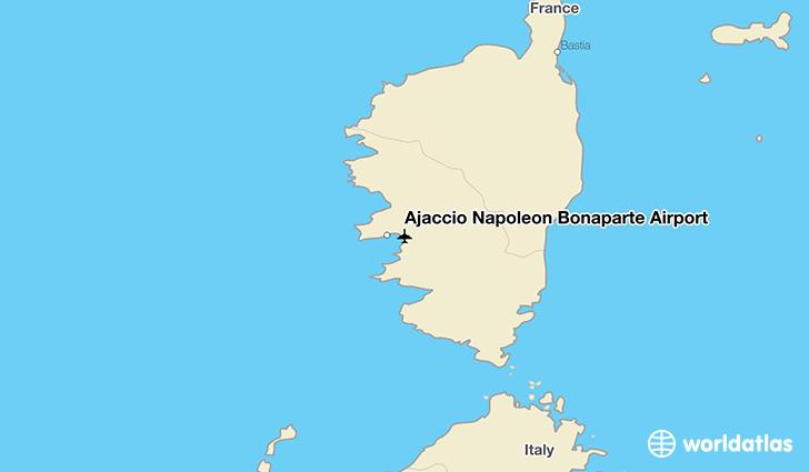 Ajaccio Napoleon Bonaparte Airport AJA WorldAtlas