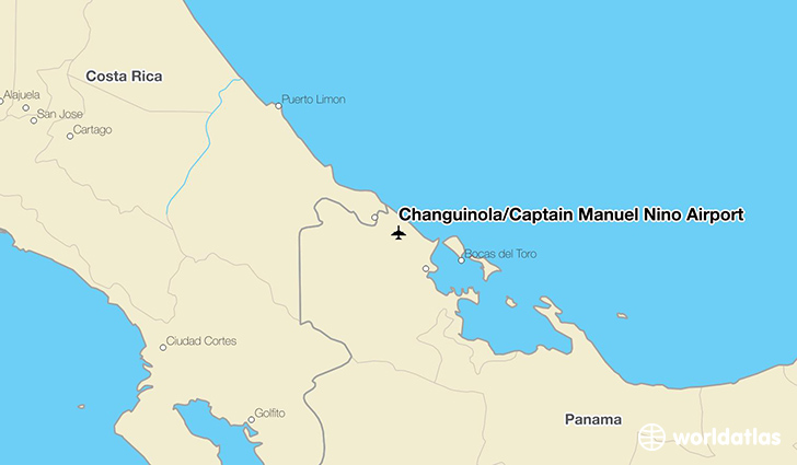 Changuinola/Captain Manuel Nino Airport location on a map