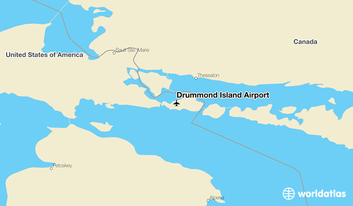 Drummond Island Airport location on a map