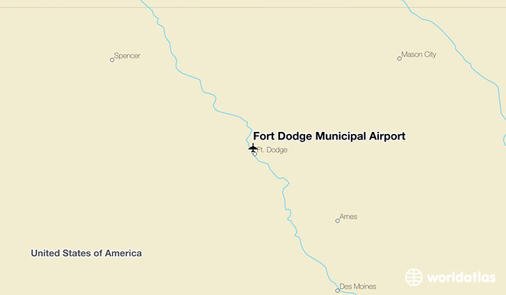 Fort Dodge Municipal Airport location on a map