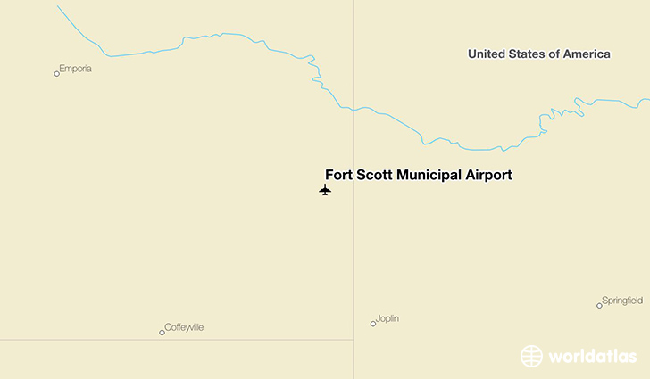 Fort Scott Municipal Airport location on a map