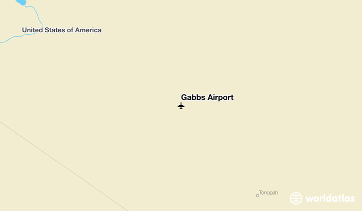 Gabbs Airport location on a map
