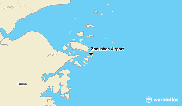 Zhoushan Airport location on a map