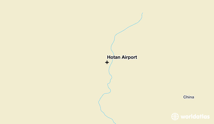 Hotan Airport location on a map