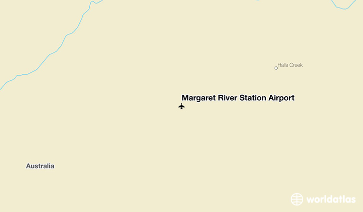 Margaret River Station Airport location on a map