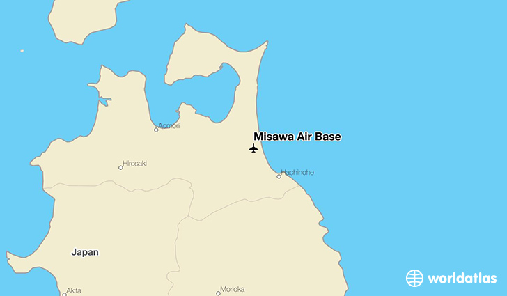 Misawa Air Base location on a map