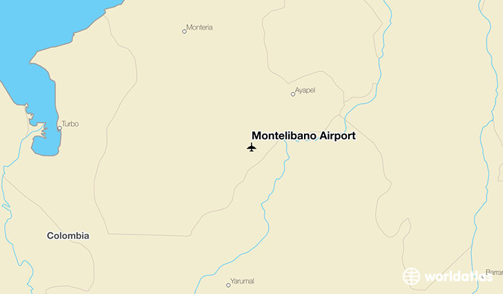 Montelíbano Airport location on a map