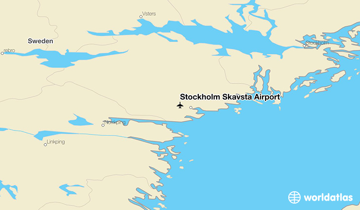 Stockholm Skavsta Airport location on a map