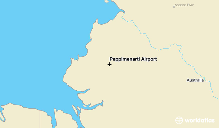 Peppimenarti Airport location on a map