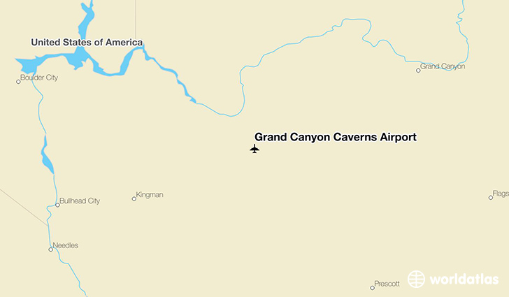 Grand Canyon Caverns Airport location on a map