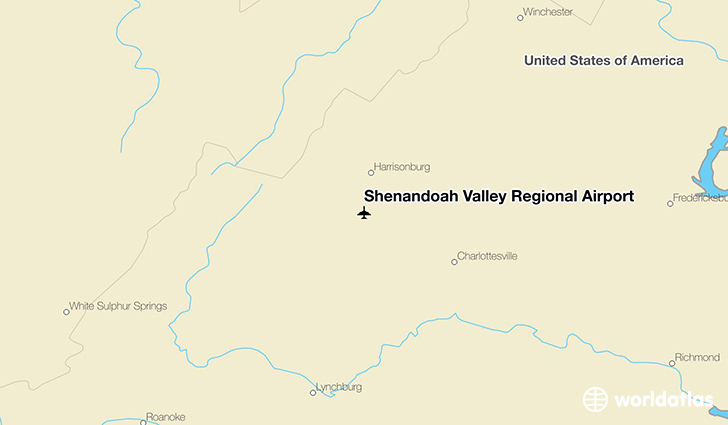 Shenandoah Valley Regional Airport location on a map