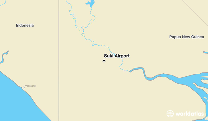 Suki Airport location on a map