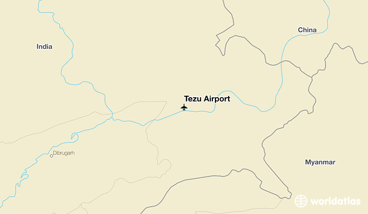 Tezu Airport location on a map