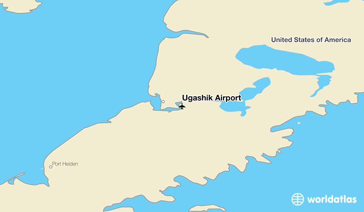 Ugashik Airport location on a map