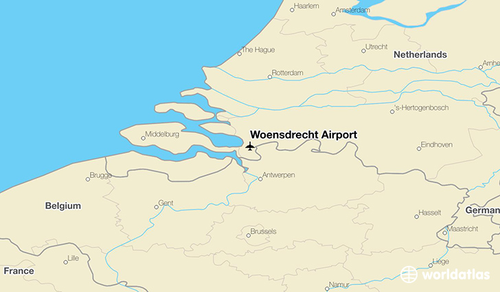 Woensdrecht Airport location on a map