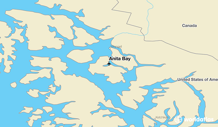 Anita Bay location on a map