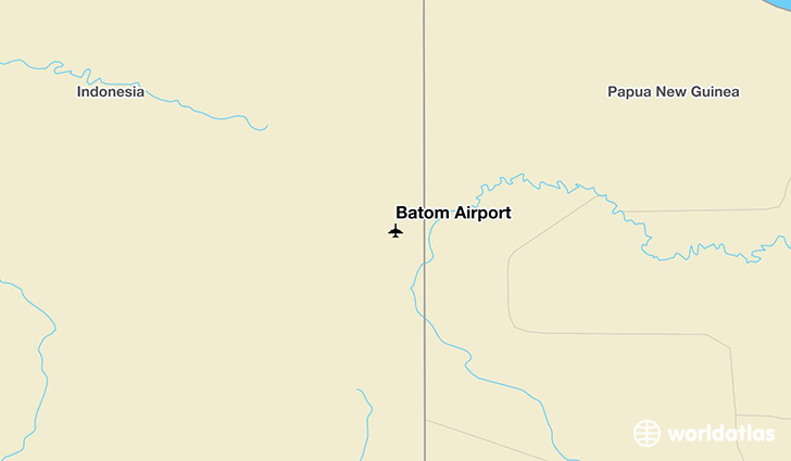 Batom Airport location on a map