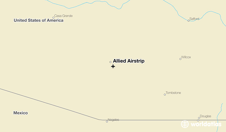 Allied Airstrip location on a map