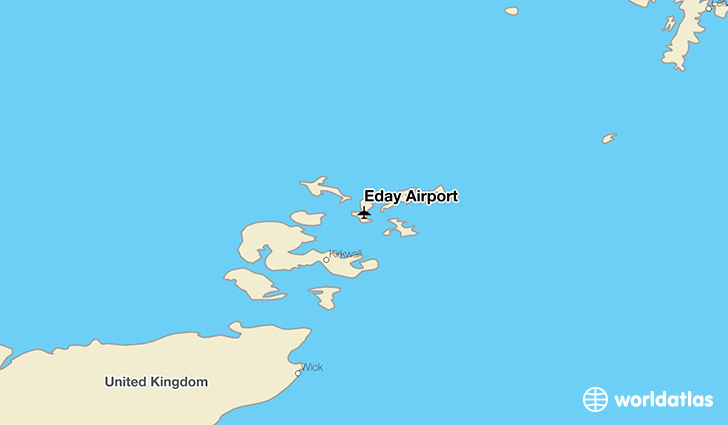 Eday Airport location on a map