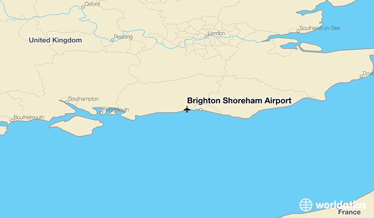 Brighton Shoreham Airport location on a map