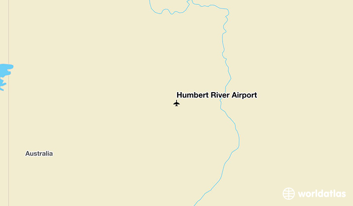 Humbert River Airport location on a map