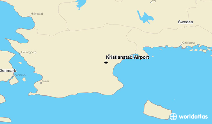Kristianstad Airport location on a map