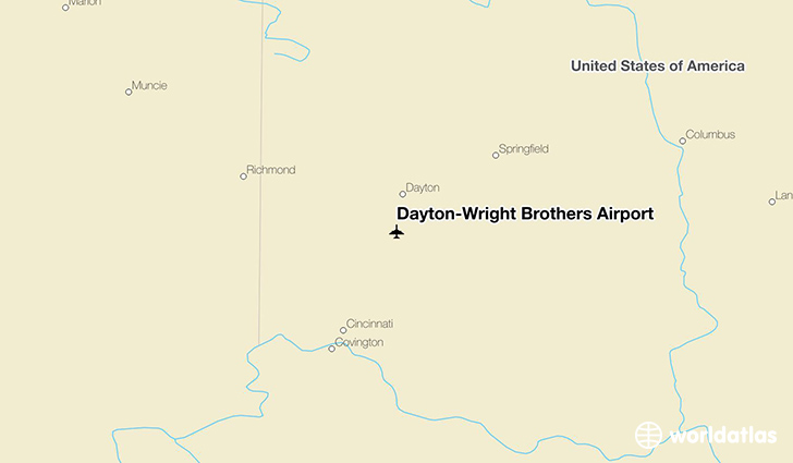 Dayton-Wright Brothers Airport location on a map
