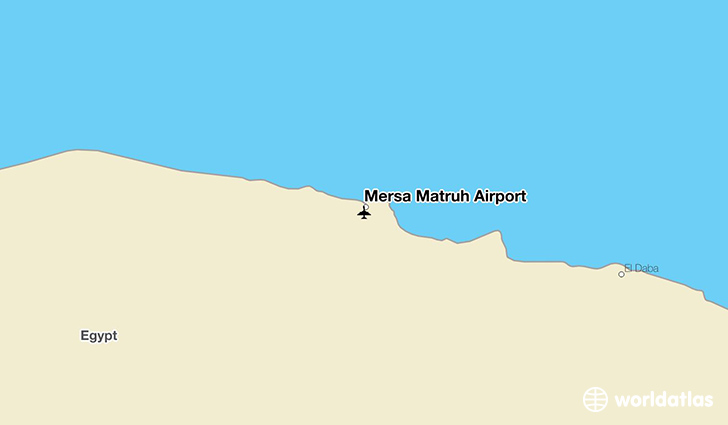 Mersa Matruh Airport location on a map