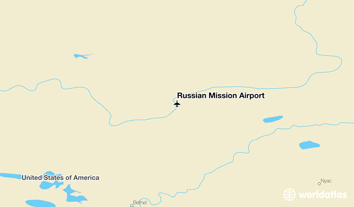 Russian Mission Airport location on a map
