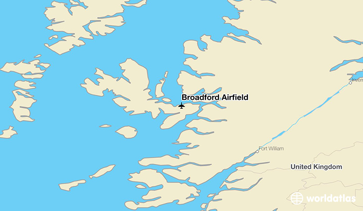 Broadford Airfield location on a map