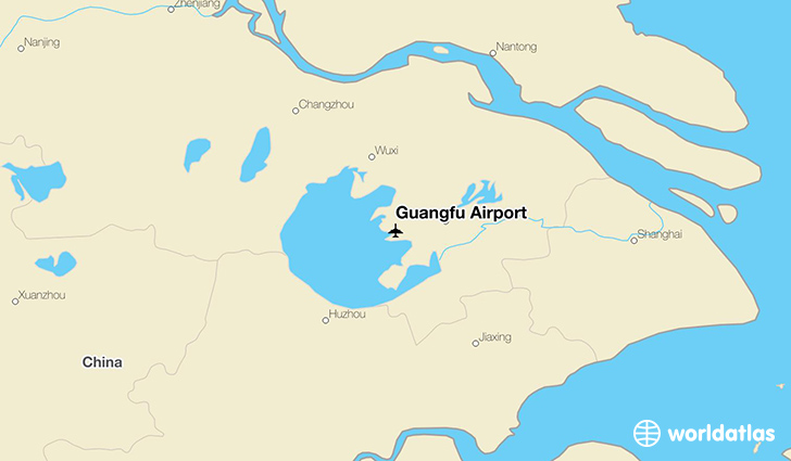 Guangfu Airport location on a map