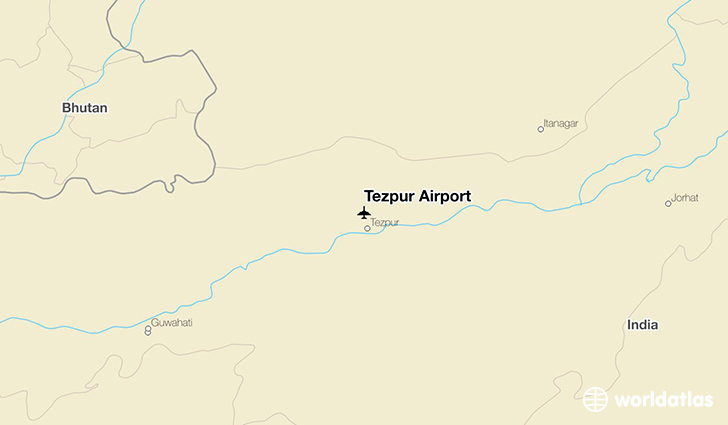 Tezpur Airport location on a map