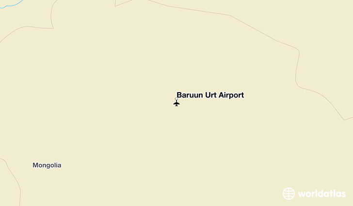 Baruun Urt Airport location on a map