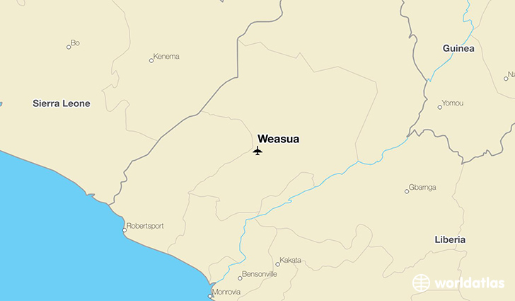 Weasua location on a map