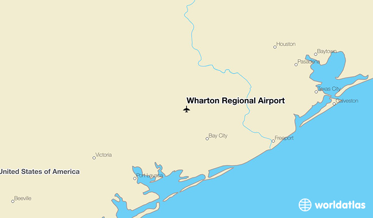 Wharton Regional Airport location on a map