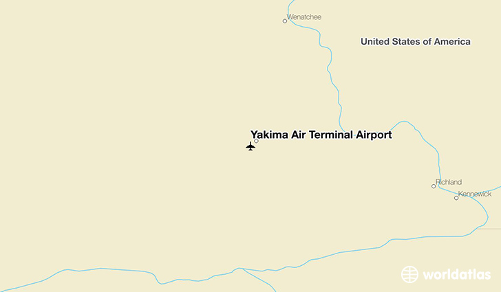 Yakima Air Terminal Airport location on a map